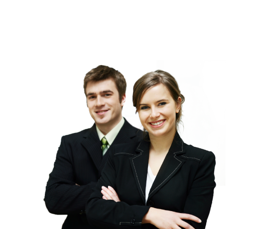 Two sales people - Man and woman